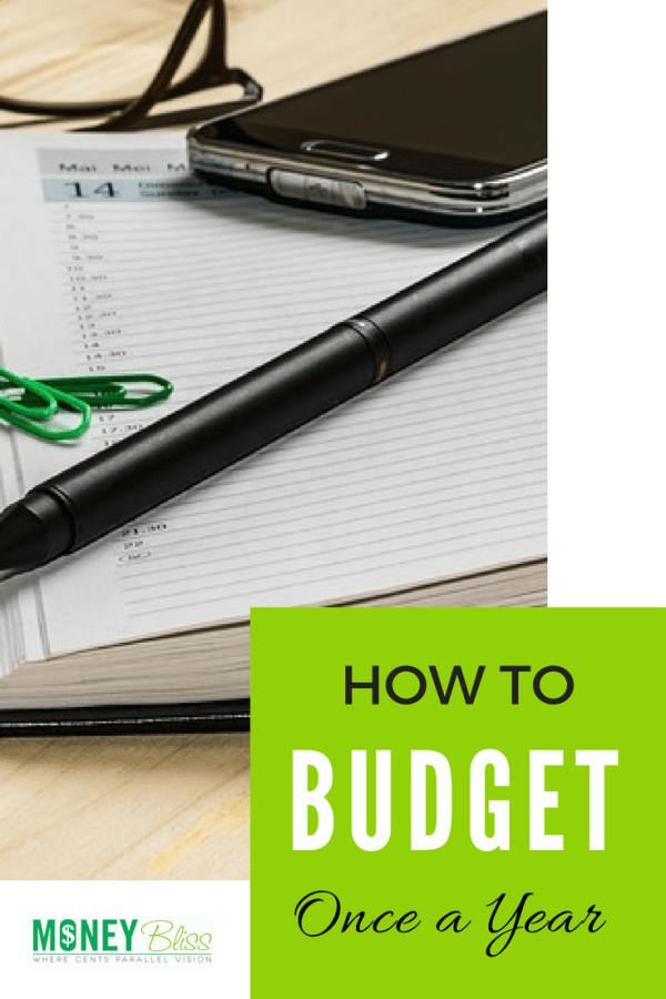 How to Budget Once a Year