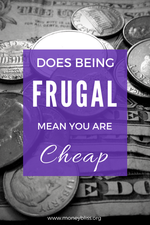 Does Being Frugal Mean you are Cheap?