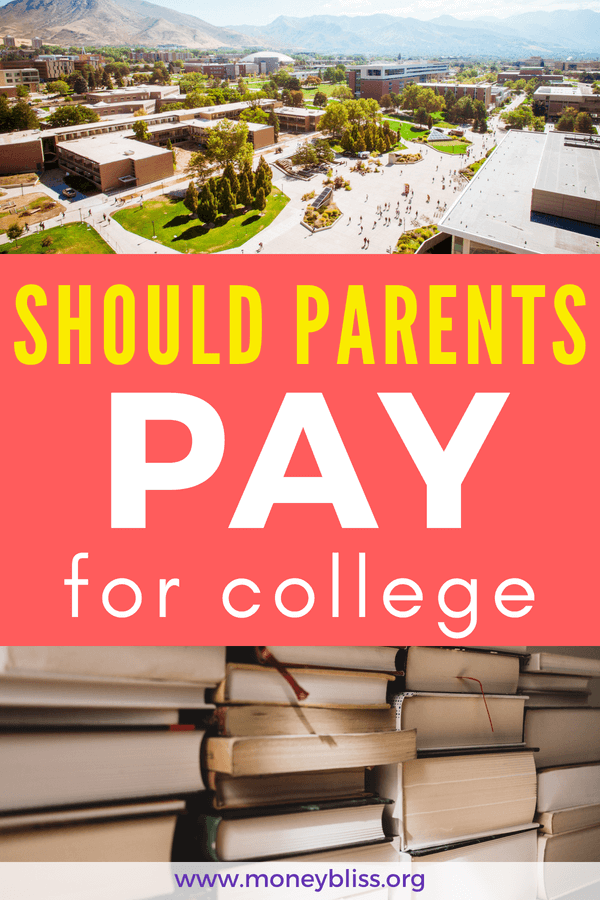 The Price of College Tuition? College Scholarships? Student Loans? What should parents do? Truth is education costs are skyrocketing. This isn't news and saving for kids to go college isn't easy. Yes, a plan can be made with awesome tips and ideas. But, should parents pay for college?