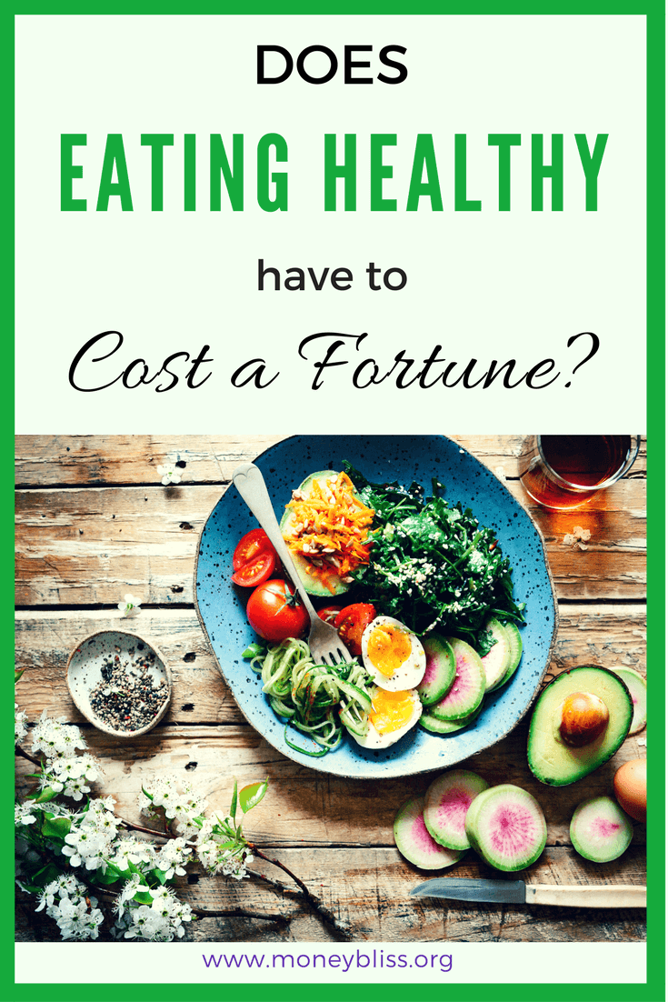 How to eat healthy on a budget. Is the cost of healthy eating doable? Learn why healthy eating isn't expensive. It is possible to eat healthy food for just $1.61 per day per person. #eathealthy #grocerybudget #mealplan #healthyfood