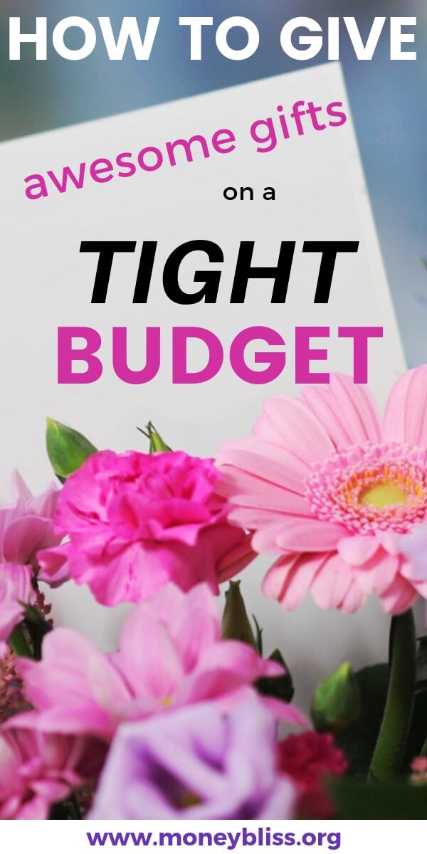 Tight budget this Christmas? Don't fret - you can still give awesome and thoughtful gifts. Get your inspiration here for any occasion. #holiday #gifts #budget #moneybliss