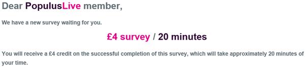 PopulusLive survey