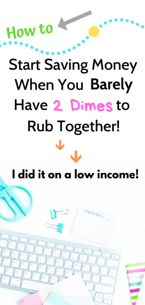 Figuring out how to save money when you're broke is stressful and disheartening. I know, I've been there, but it's possible to save even when you live paycheck to paycheck or even save money on a low income! I went from $15 to $200 per paycheck and I want to share my money saving tips with you! #savemoneywhenyourbroke #savemoremoneythisyear #savingforbeginners