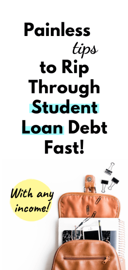 pay off student loan debt fast