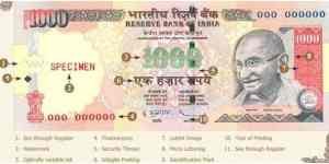 How to Identify Fake Notes of Rs. 500 and 1000