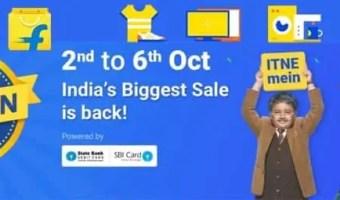 Flipkart Big Billion Days Sale is Back from 2 to 6 October 2016