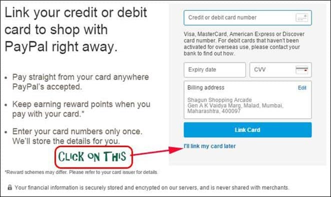 how to change credit card on paypal