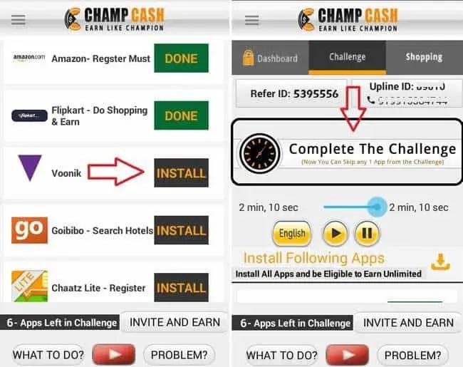 accept challenge champcash