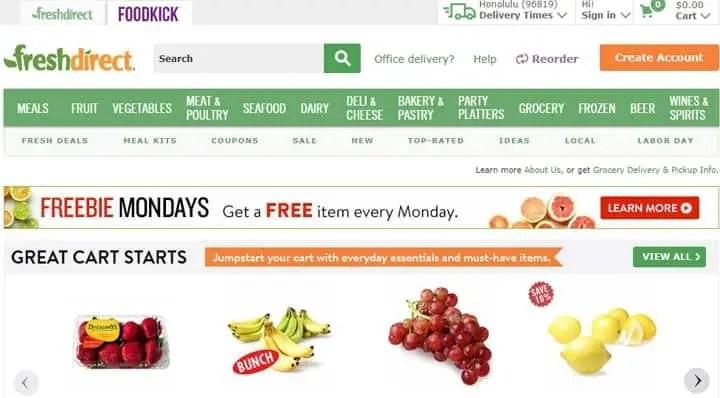 freshdirect online grocery