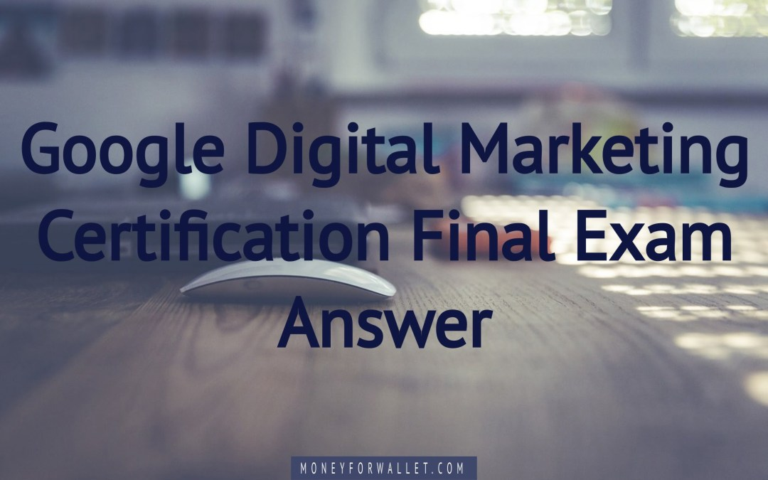 google digital marketing answers