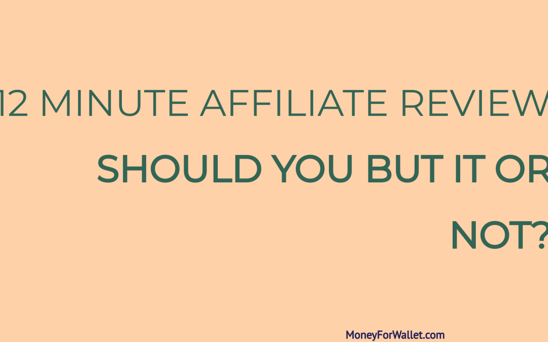12 Minute Affiliate Review: Is It Worth To Purchase Them?