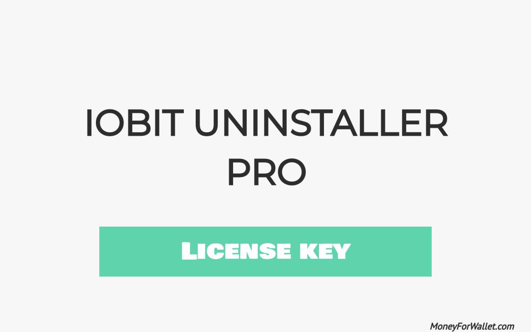 Download IObit Uninstaller Pro Free License key