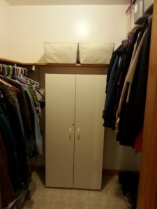 closet makeover finished