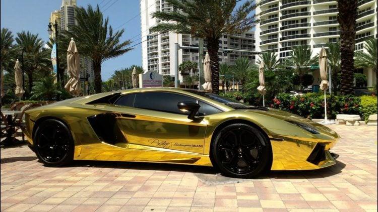 Golden Lamborghini 3