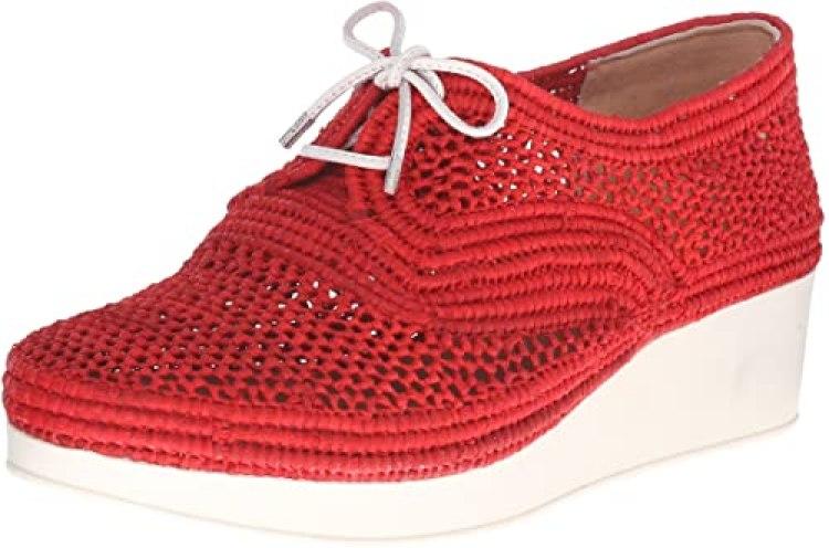 Clergerie Vicolek Raffia Wedge Sneakers