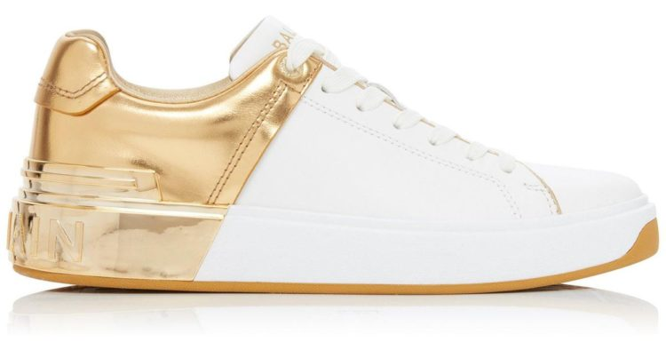 Balmain Camel Leather B-Court Sneakers