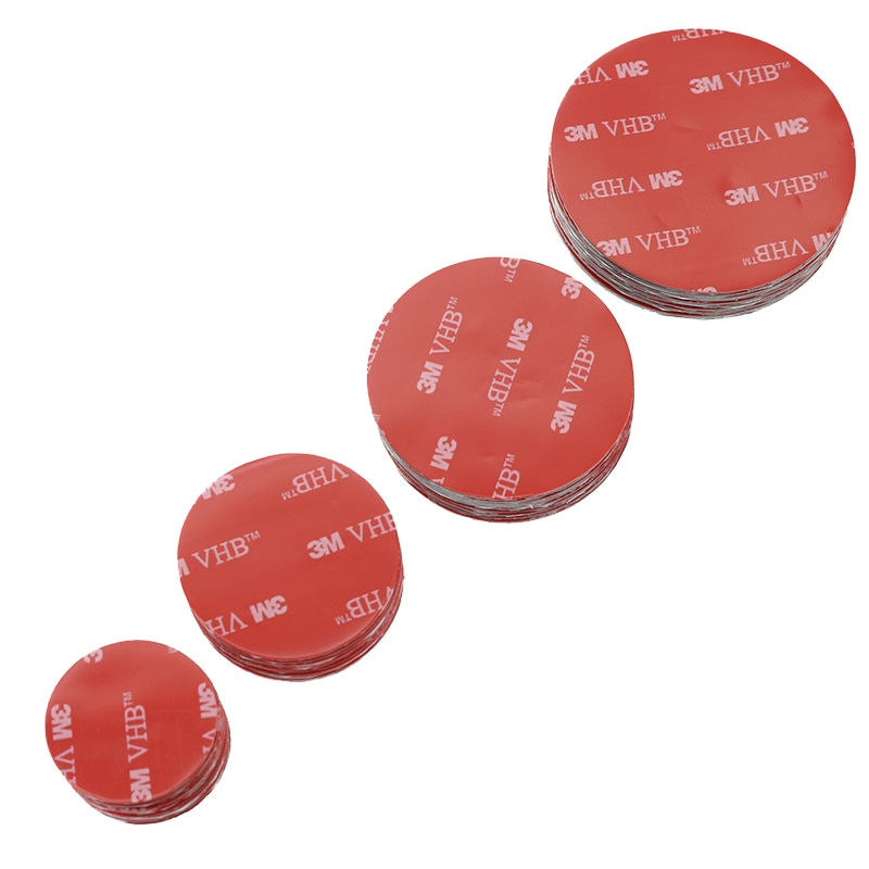 3M 20pcs Round red gray plastic double-sided tape