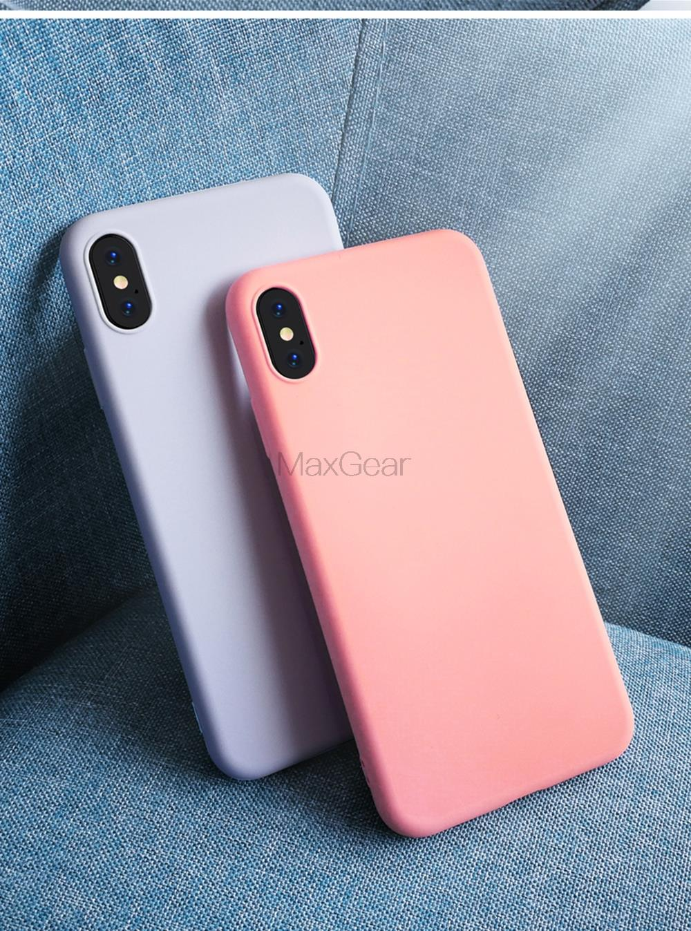 Thin Soft Case For iPhone 7 8 6 6s Plus 4 5S SE 2 Original Liquid Silicone Cover Candy For iPhone X Xs 11 Pro Max XR
