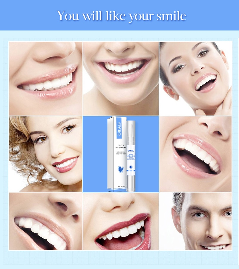 Teeth Whitening Pen Remove Plaque Stains Cleaning Serum Dental Oral Tooth 5ml