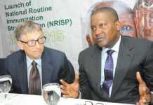 Bill Bill Gates with Aliko Dangotewith Aliko Dangote