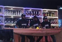 L-R: Akin Esho, Ezekiel Adamu with Goke Obembe