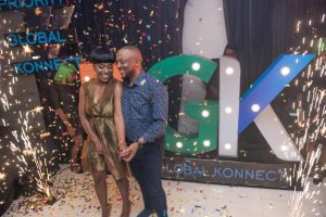 Mr & Mrs Frederick Eze at the unveiling of Priority Global Konnect (PGK) Ltd