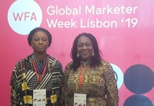 Folake Ani-Mumuney and Ediri Ose Ediale; respectively President and Executive Secretary of the Advertisers Association of Nigeria (ADVAN) at the World Federation of Advertisers conference in Lisbon, Portugal.