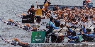 Thailand's Royal Navy Seals Win the Inaugural King's Cup Elephant Boat Race & River Festival