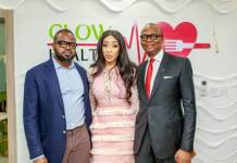 Managing Director, Chief Executive Officer, Blueprint Technologies Ltd., Saheed Alao; Chief Executive Officer and Founder, GLOW Health Enterprise, Adanna Monde, and Group Managing Director, Chief Executive Officer, United Bank for Africa Plc, Kennedy Uzoka at the official launch of GLOW Health in Lagos, recently