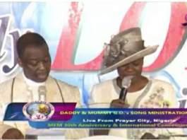 Dr Daniel Olukoya, GO, MFM with his wife Pastor Shade Olukoya