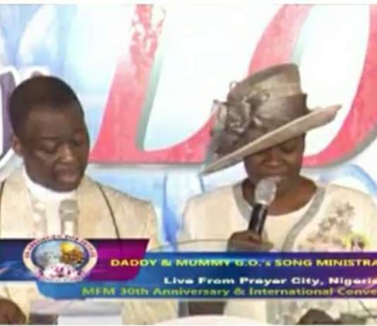 Dr Daniel Olukoya, GO, MFM with his wife Pastor Shade Olukoya