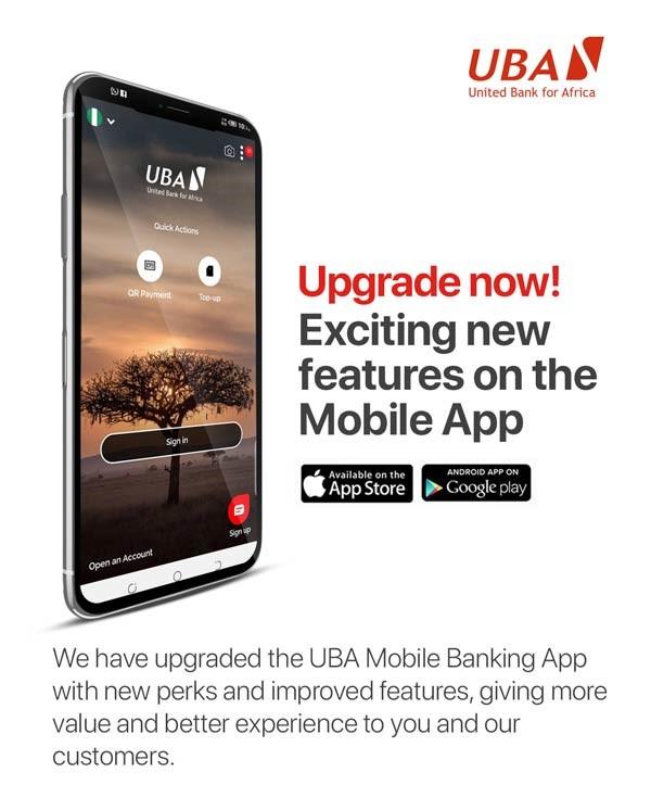 mobile app UBA