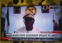 Gov. Sanwoolu on AriseTV on Thursday morning
