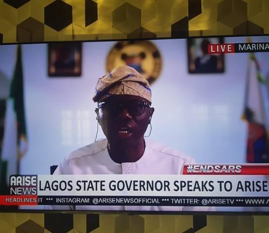 Gov. Sanwoolu on AriseTV on Thursday morning