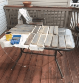 stain pallet wall