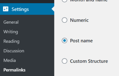 permalink blog settings