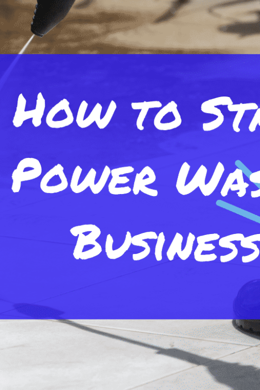 how to start a power washing business