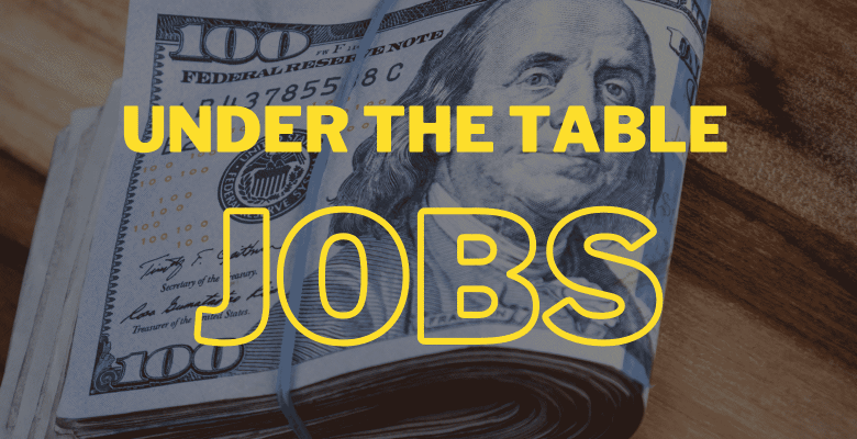 off the book jobs