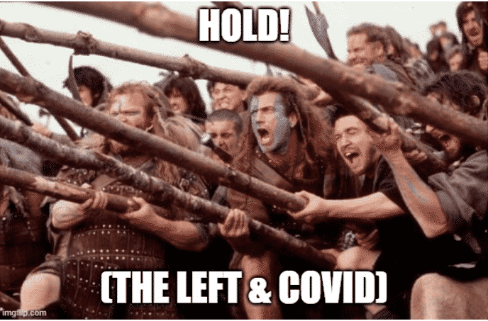 the left on covid