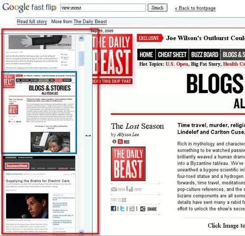 Google推出Fast Flip線上新聞速讀
