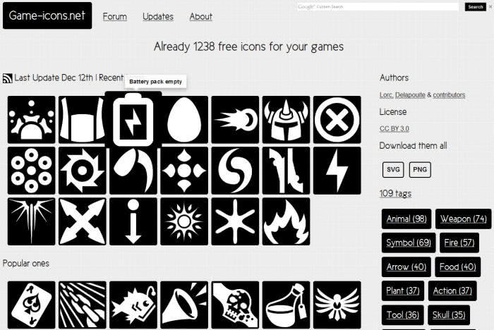 Game-icons 網站