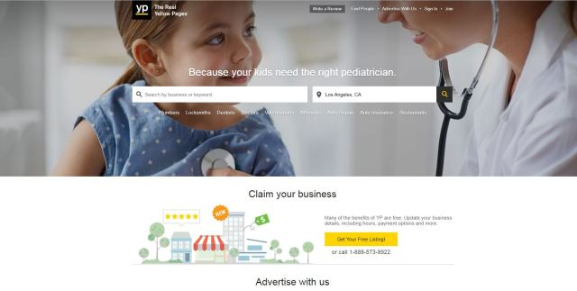 image-of-yellow pages-homepage