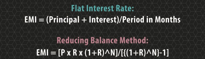 flat rate and reducing Interest Rate Formula