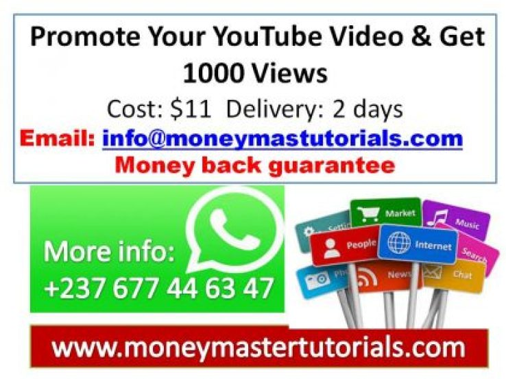 Promote Your YouTube Video & Get 1000 Views