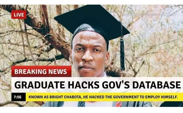 Graduate hacked government database and employed himself