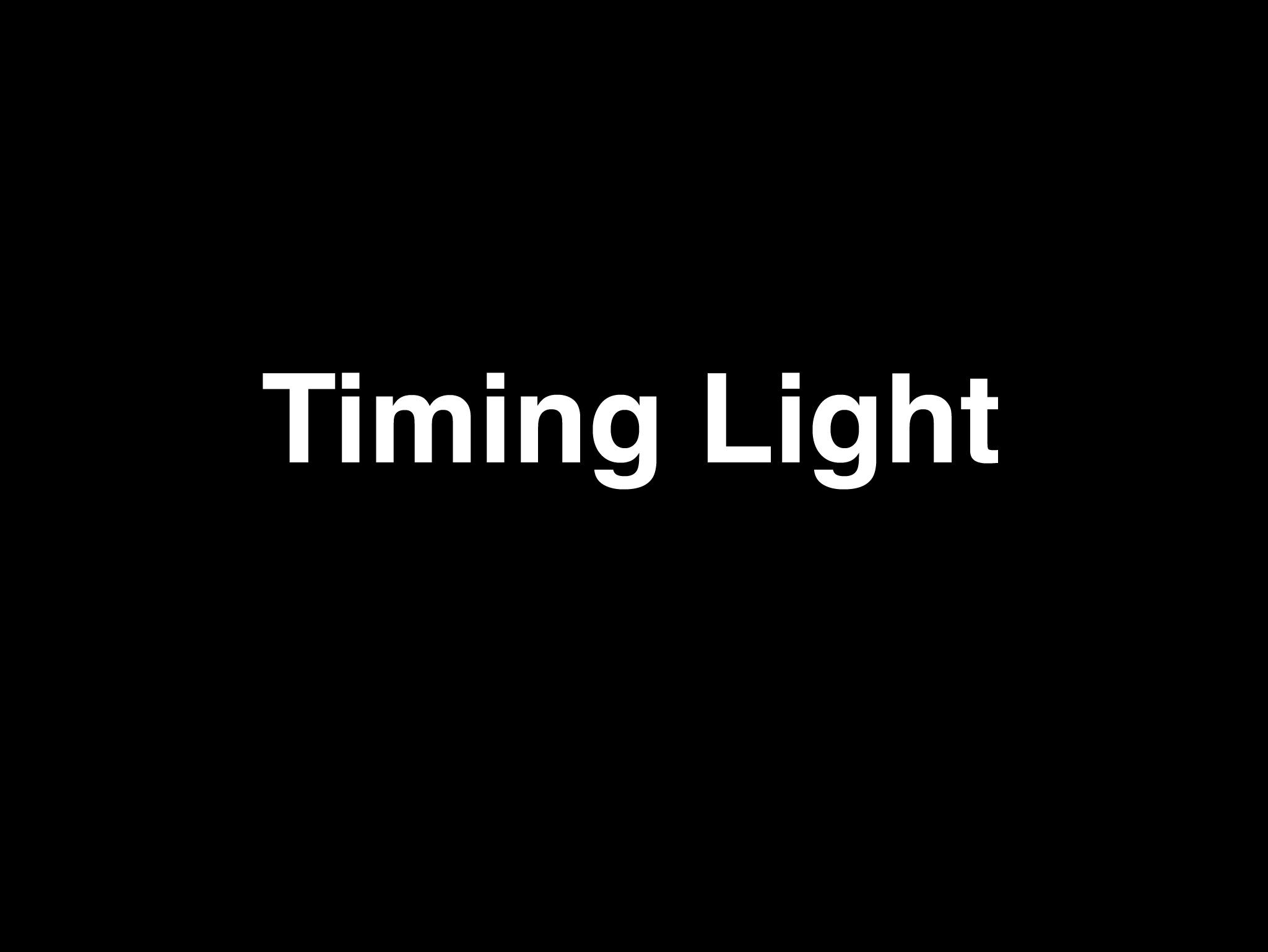 Timing Light Videos and Slides for Toastmaster Speeches