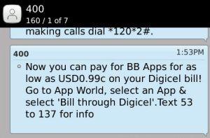 Digicel Jamaica Update - Buying BB Aps Just Got Easier