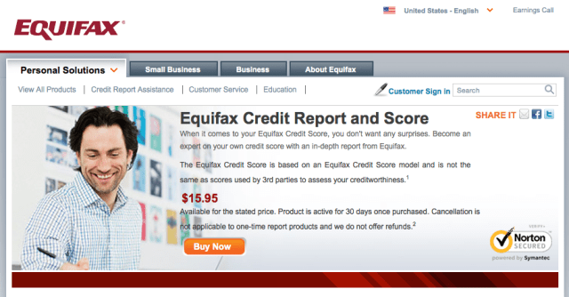 Credit Score Equifax Buy