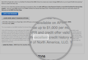 excellent credit history