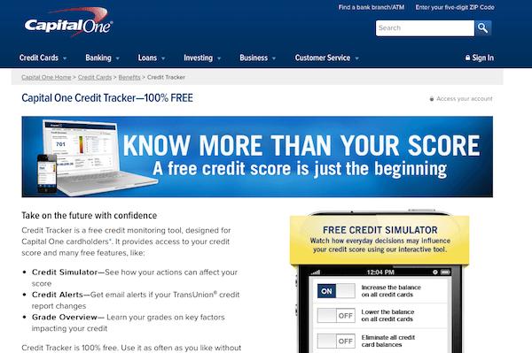 free credit score bank